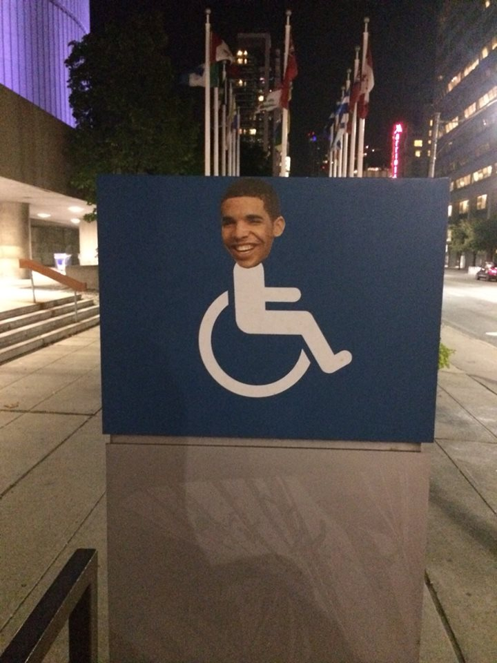 Drake's Face Appears On Wheelchair Signs All Over Toronto ...