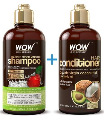 3. Wow Apple Cider Vinegar Shampoo And Wow Hair Conditioner Set