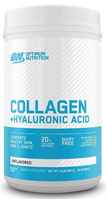 8. Optimum Nutrition Collagen + Hyaluronic Acid - Unflavored, 1.42-Pound