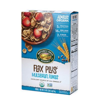6. Nature's Path Flax Plus Multibran Flakes - 35-Ounce, 6-Pack