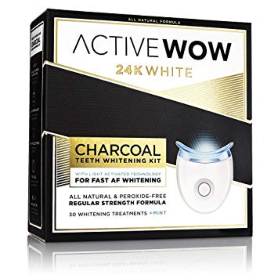 Active Wow 24k White Charcoal Teeth Whitening Kit