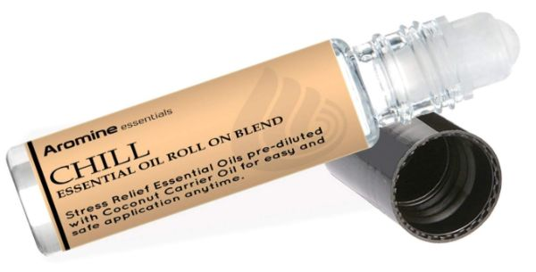 9. Aromine Chill Essential Oil Roll On Blend