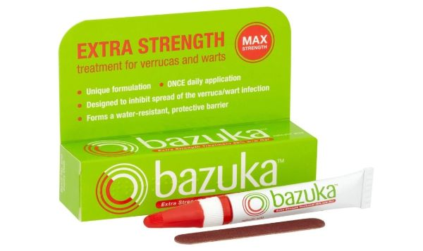 3. Bazuka Extra Strength Treatment for Verrucas and Warts