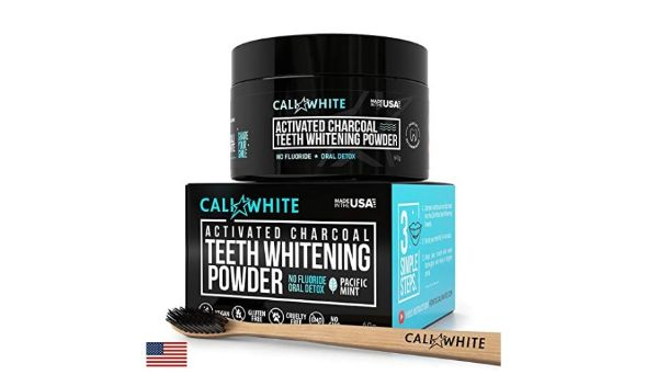 Cali White Vegan Activated Charcoal Teeth Whitening Powder