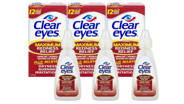 11. Clear Eyes Maximum Redness Relief Eye Drops