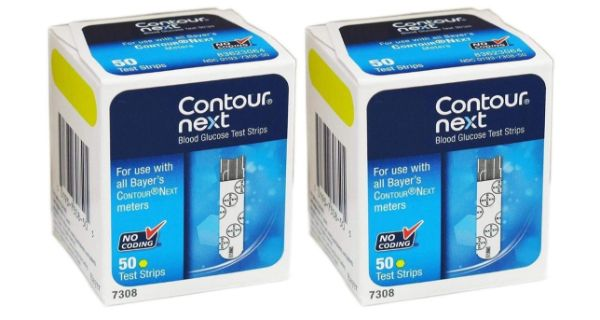10. Contour next Blood Glucose Test Strips