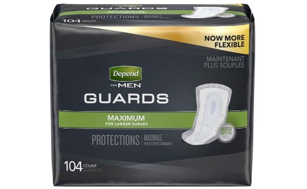 14. Depend Incontinence Guards for Men