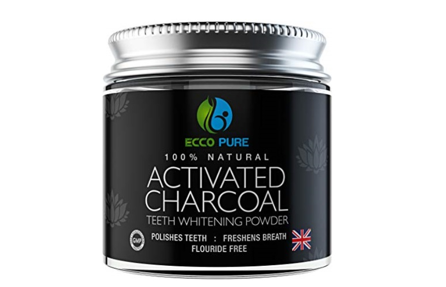 ECCO PURE 100% Natural Activated Charcoal Teeth Whitening Powder