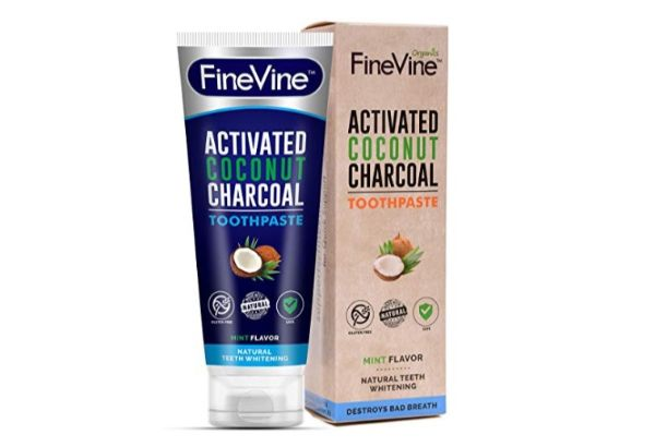Fine Vine Activated Coconut Charcoal Toothpaste