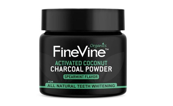 FineVine Activated Coconut Charcoal Teeth Whitening Powder