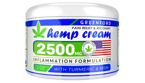 10. Greenford Pain Relief & Recovery Hemp Cream