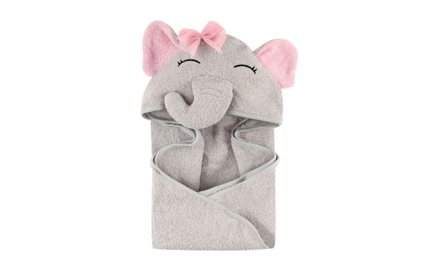 9. Hudson Baby Unisex Baby Animal Face Hooded Towel