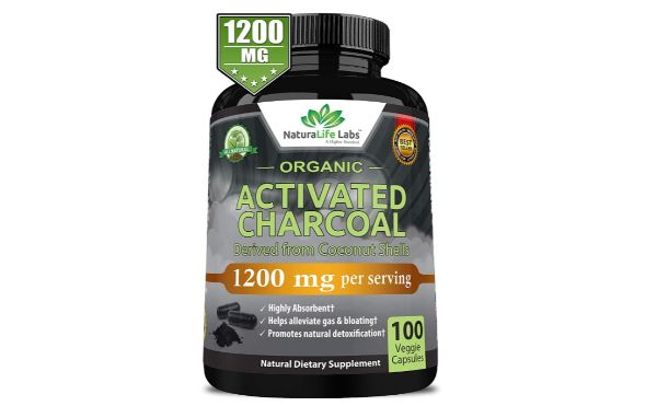 2. NaturaLife Labs Organic Activated Charcoal Capsules