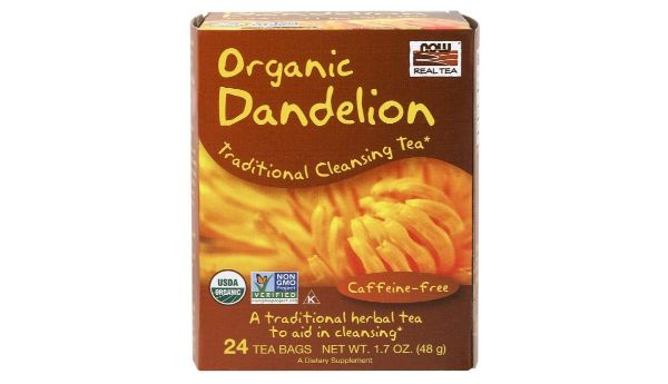 6. NOW Real Tea Organic Dandelion Traditional Cleansing Tea