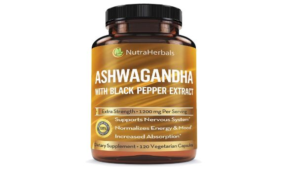4. NutraHerbals Ashwagandha with Black Pepper Extract Supplement