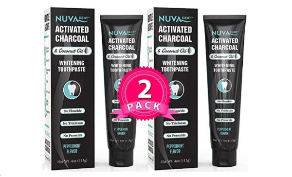 Nuva Dent Activated Charcoal & Coconut Oil Toothpaste