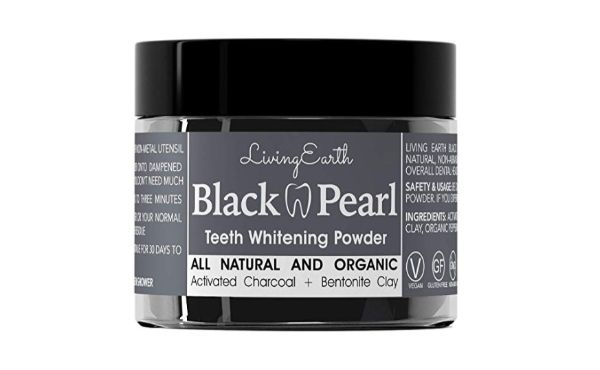 One Living Earth Activated Charcoal Teeth Whitening Powder