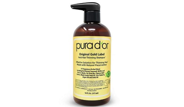 1. Pura D'Or Original Gold Label Anti-Hair Thinning Shampoo