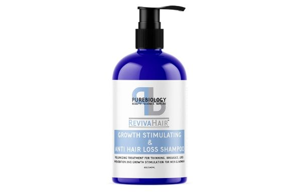 6. Pure Biology RevivaHair Growth Stimulating and Anti Hair Loss Shampoo