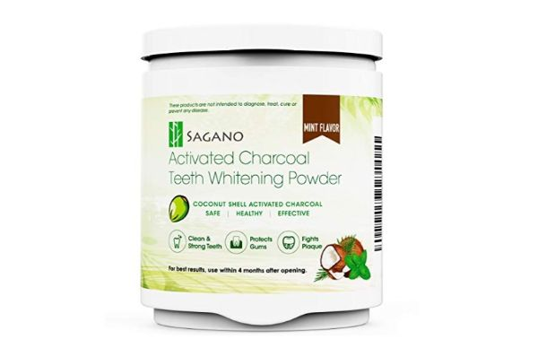Sagano Activated Charcoal Teeth Whitening Powder