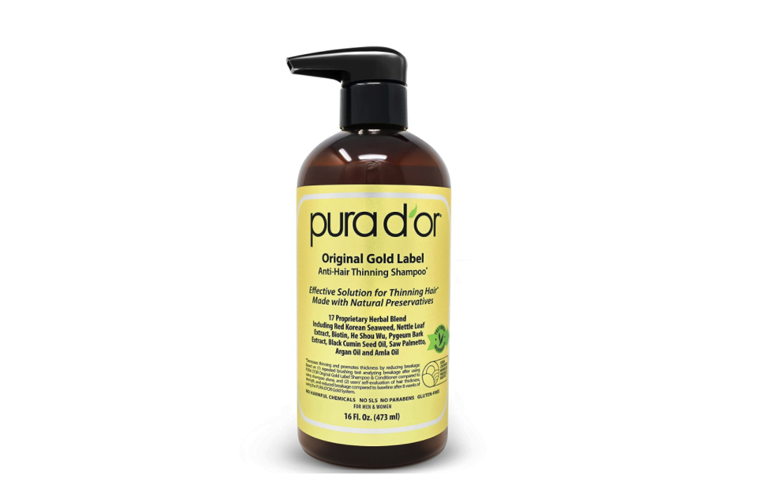 2. Pura d'or Original Gold Label Anti-Hair Thinning Shampoo