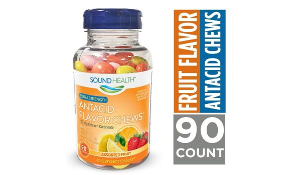 3. SoundHealth Extra Strength Antacid Flavor Chews