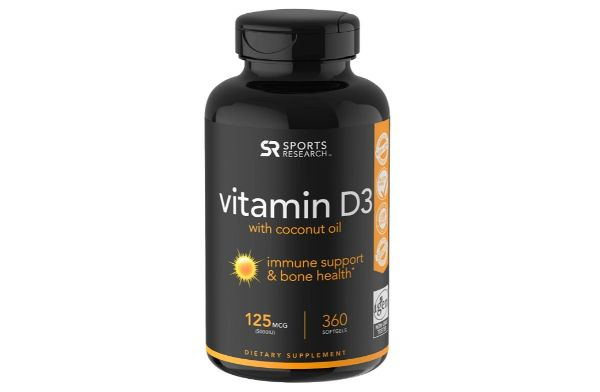 2. Sports Research Vitamin D3 with Coconut Oil