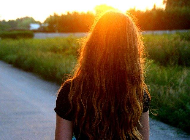 sunset long hair