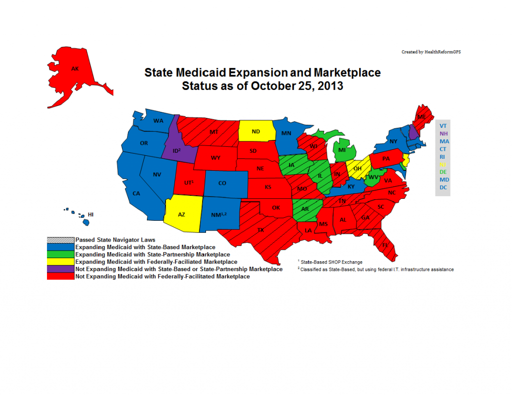 Medicaid Expansion Mirrors Partisan Political Divide