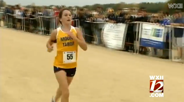 Kayla Montgomery running in a race