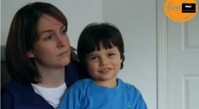 Claire and son Daniel talking about Upsee