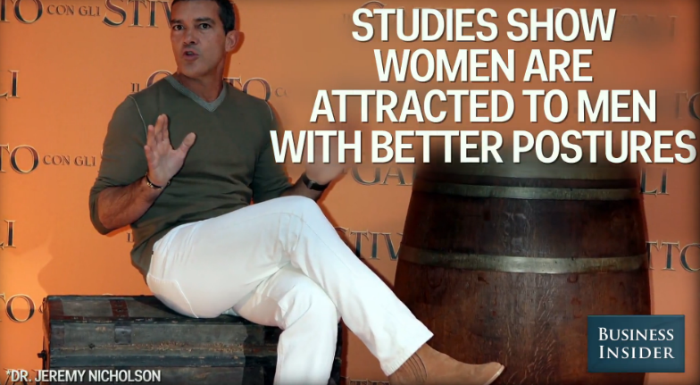 Women like men with better postures