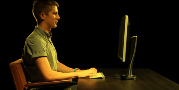 Keep computer monitor at eye level