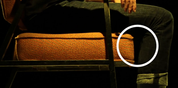 Keep small gap between the back of your knees and the seat