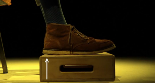 Keep your feet planted on the ground.
