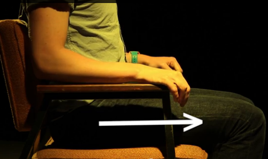Keep your knees at or below hip level