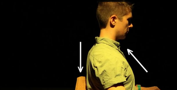 Keep your shoulder blades back and down