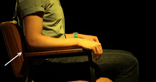 Make sure lower back is supported by the back of the chair