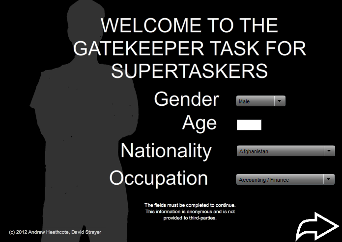 GateKeeper Task For Supertaskers
