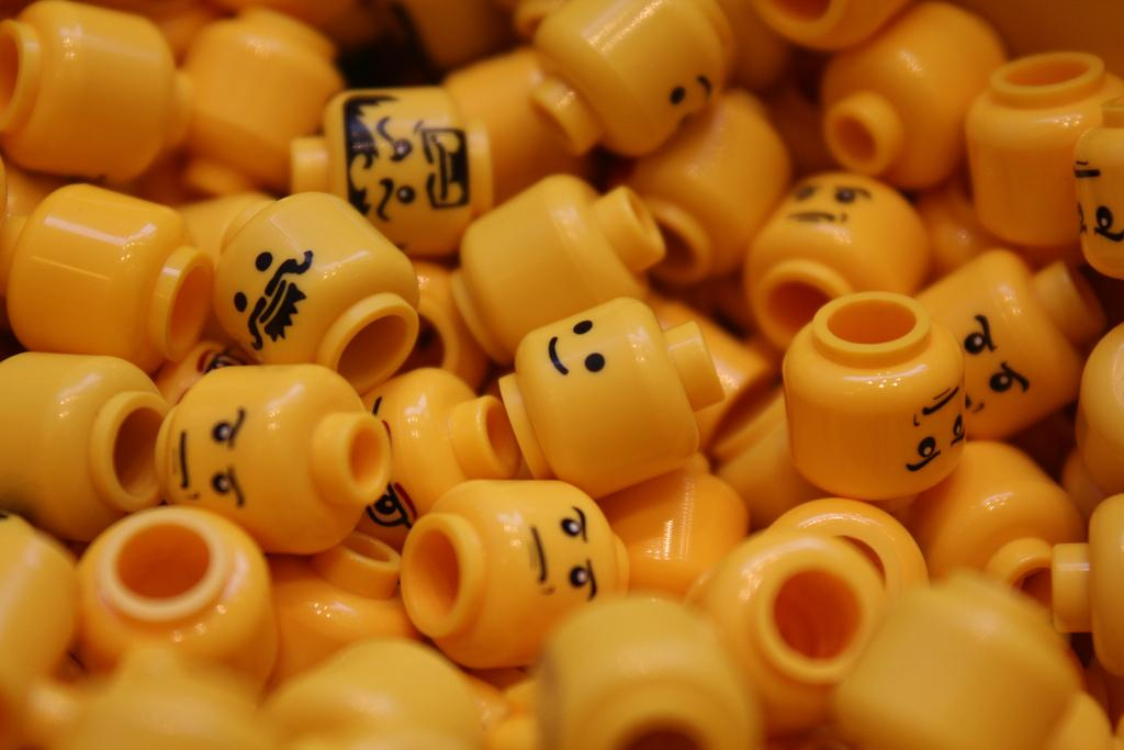 Pile of Lego faces