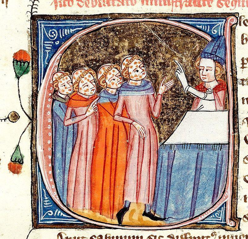 A bishop instructs clerics