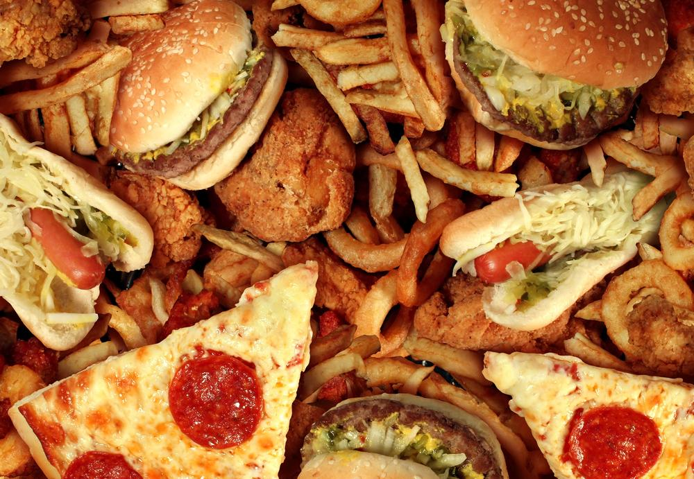 pizza and burgers