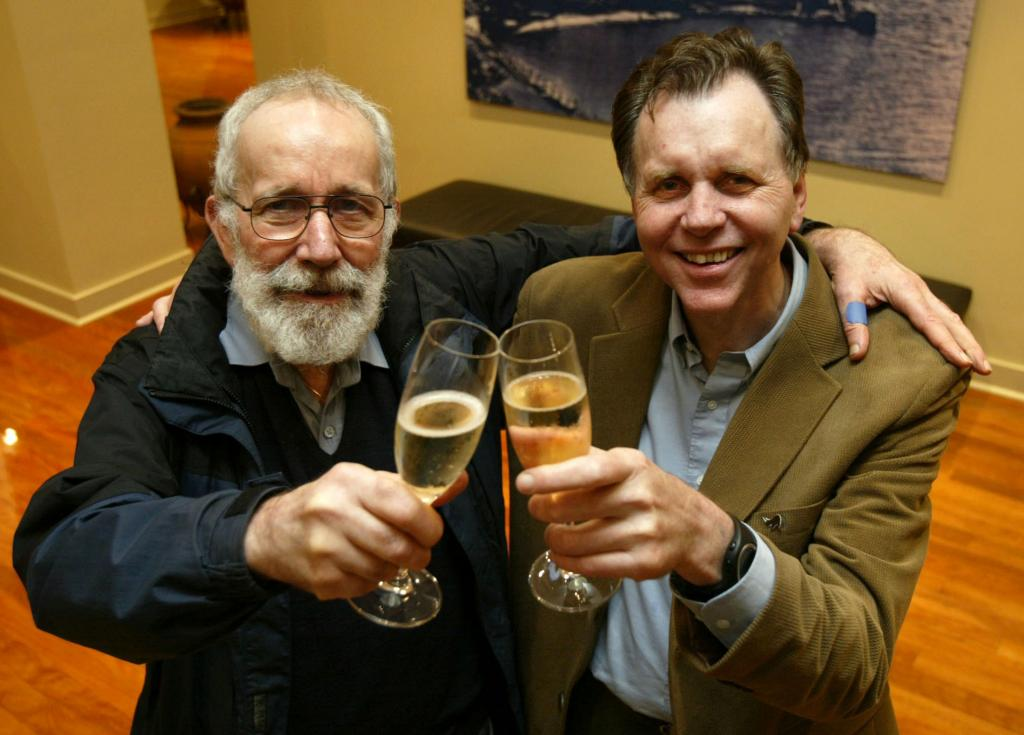 Barry Marshall and Robin Warren