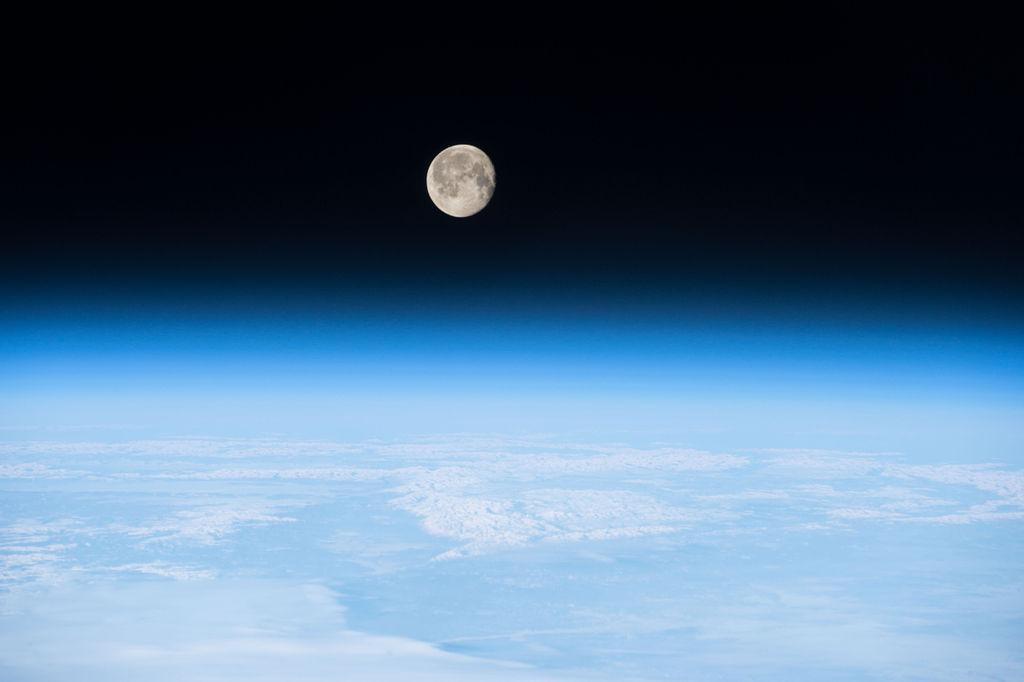 Moon view from Earth