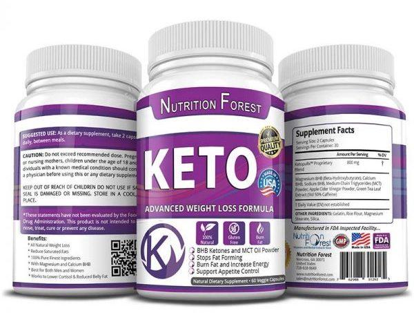 Nutrition Forest's Keto Advanced Weight Loss Formula