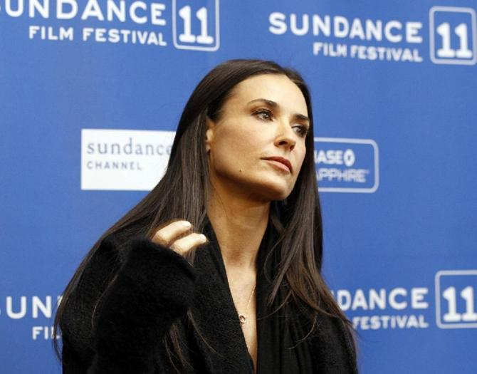 "Cast member Demi Moore poses at the premiere of ""Another Happy Day"" at the Sundance Film Festival in Park City, Utah January 23, 2011."
