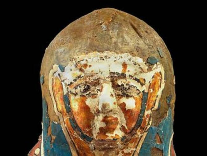 The 2,250-year-old Ptolemaic mummy, which revealed tell-tale signs of metastatic prostate cancer under high-powered digital imaging.