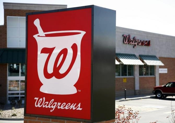 The Walgreens sign is pictured at an outlet in Westminster.