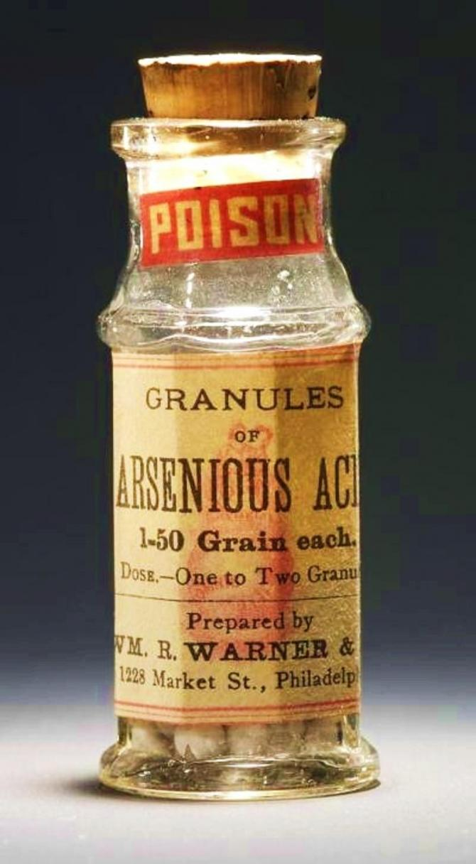Arsenic is poisonous.