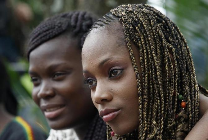 Women at the Afro-Hairstyles Competition in California